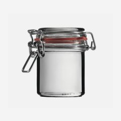 Drahtbügelglas 167ml, Weißglas, rund