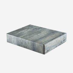Geschenkkarton in Altholzoptik H30 x B24,5 x T6 cm