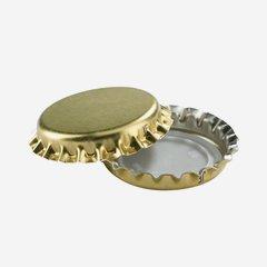 Kronenkorken Mini Gold mit Dichtungseinlage