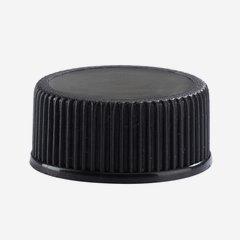 Pilferproof Kunststoffverschluss PP 24, schwarz