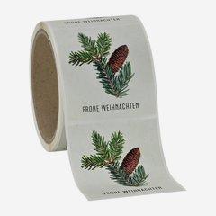 """Etikette Weihnachten, Motiv """"Tannenzweig"""", 65x70mm"""