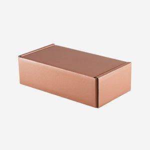Geschenkkarton in Kupferoptik, H26 x B16 x T8cm
