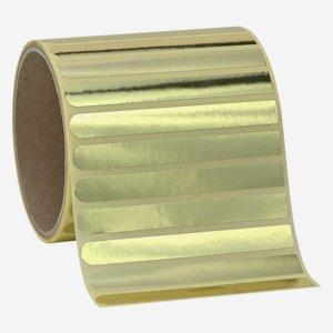Etikette 10x90mm, gold glänzend