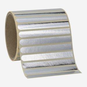 Etikette 10x90mm, silvervac