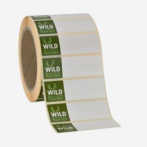Etikettenserie WILD AUS MEINEM REVIER, 25x75mm