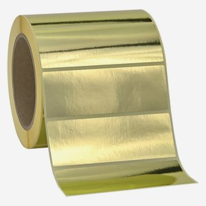 Etikette 105x37 mm, Goldfolie