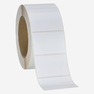 Etikette 40x60mm, weiß, quer am Band