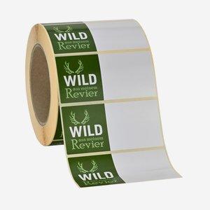 Etikettenserie WILD AUS MEINEM REVIER, 45x95mm