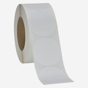 Etikette 65x65 mm, weiß, rund