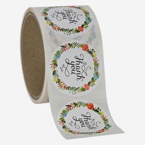 """Etikette """"Thank You"""", rund, Ø50mm"""