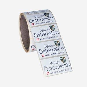 Etikettenserie Wildes Österreich, 35x60mm
