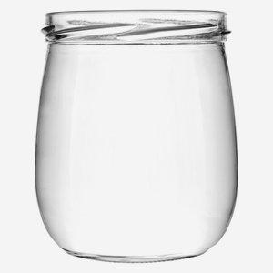 Fruchtjoghurtglas 417 ml, Weißglas, Mdg.: TO82