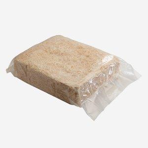 Holzwolle mittelfein, natur, 2,5kg in PE-Sack