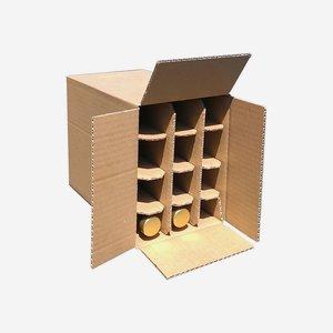Verpackungskarton für 12 Flaschen Beg-100GPI
