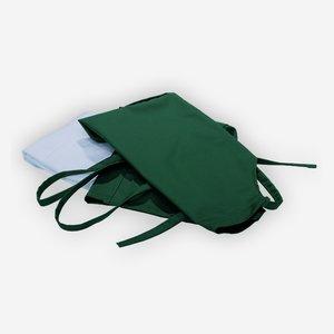 Marktschürze grün, mit zwei seitlichen Taschen