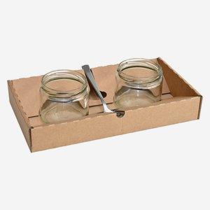 Tabletkarton für 2 Gläser ZYL-330 & Löffel
