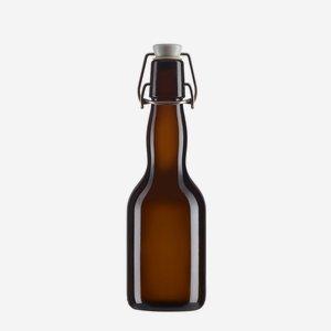 Bügelbierflasche 330ml, Braunglas, Mdg.: Bügel