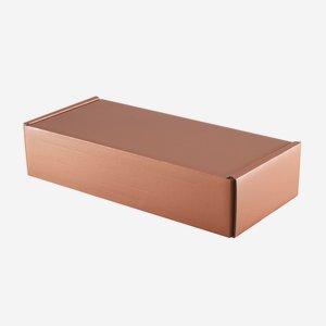 Geschenkkarton in Kupferoptik, H38 x B18 x T8,5cm