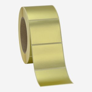 Etikette 50x65mm, gold matt