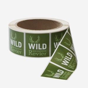 Etikettenserie WILD AUS MEINEM REVIER, 40X40mm