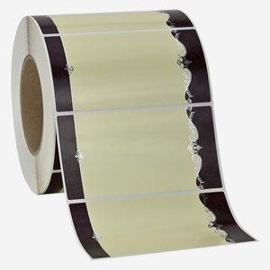 Etikette ORNAMENT, 65x125mm, 1 rot