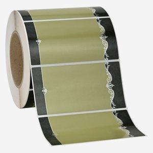 Etikette ORNAMENT, 65x125mm, 2 grün