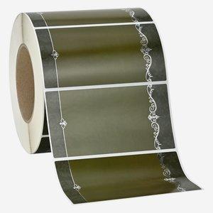 Etikette ORNAMENT, 65x125mm, 3 grün