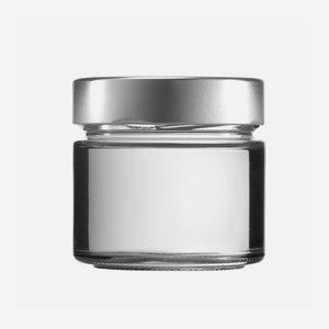 FACTUM Schraubglas 212ml, Weißglas, Mdg.: TO70De