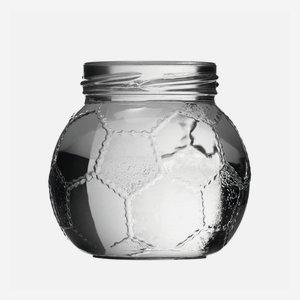 Fußball Schraubglas 212ml, Weißglas, Mdg.: TO58