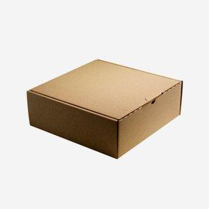 Geschenkkarton natur braun 28,3x28x10cm