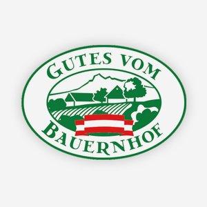 """Tansparentaufkleber 160x115, """"Gutes vom Bauernhof"""""""
