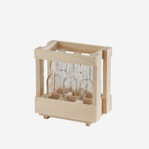 Holzsteige für 6 x 40ml Flaschen
