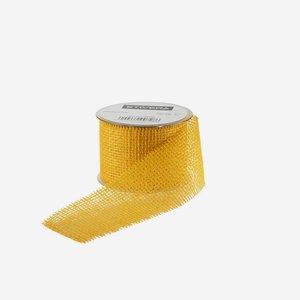 Geschenksband aus Jute, 60 mm, gelb