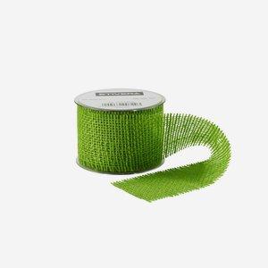 Geschenksband aus Jute, 60 mm, grün