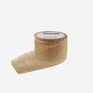 Geschenksband aus Jute, 60 mm, braun
