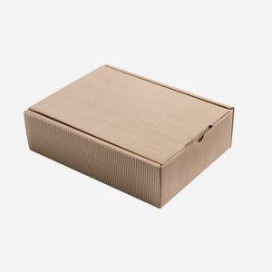 Geschenkkarton Außenwelle,  braun, H28 x B20 x T8