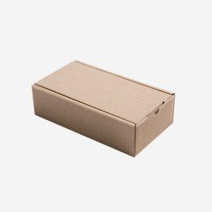 Geschenkkarton Außenwelle,  braun, H28 x B14 x T8