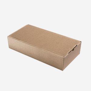 Geschenkkarton Außenwelle, braun, H38 x B18 x T8,5
