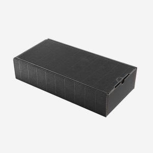 Geschenkkarton Außenwelle,schwarz,H38 x B18 x T8,5