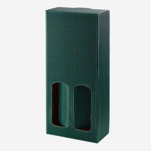 Geschenkkarton eCo-Außenwelle - 2 Flaschen, grün