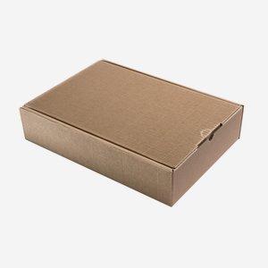 Geschenkkarton Außenwelle, braun, H38xB26,5xT8,5