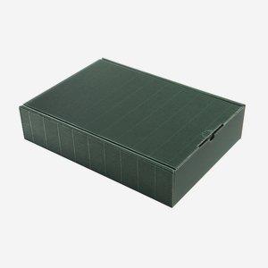 Geschenkkarton Außenwelle, grün, H38 x B26,5 xT8,5
