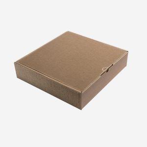 Geschenkkarton Außenwelle, braun, H34 x B34 x T8