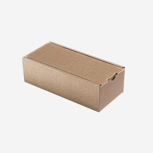 Geschenkkarton Außenwelle, braun, H26 x B11 x T8