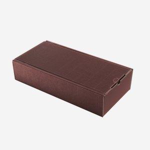 Geschenkkarton Außenwelle,  rot, H38 x B18 x T8,5