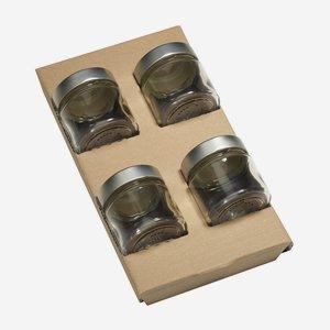 Wendeeinlage für 4 x Fac-125, für Kartonserie K100