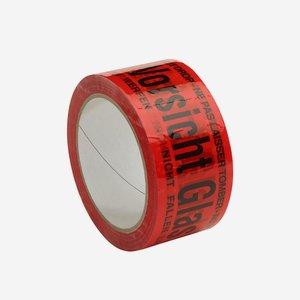 """Klebewarnband """"Vorsicht Glas"""", rot"""