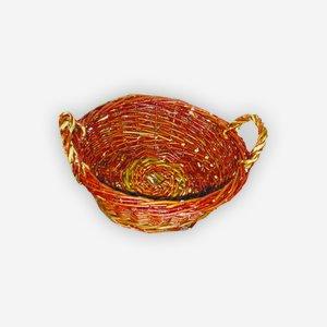 Weidenkorb, geflochten, rund, Ø ca. 35, H ca. 10cm