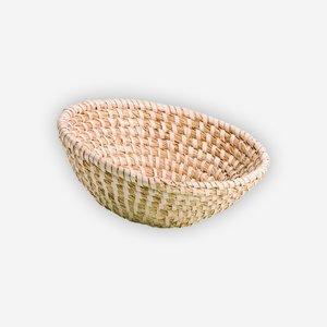 Strohkorb, geflochten, rund,  Ø ca. 30, H ca. 10cm