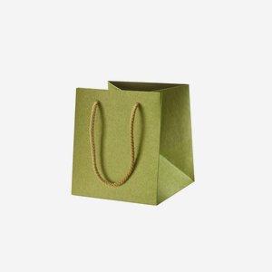 Geschenktragetasche, grün, ohne Fenster
